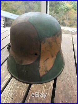Casque Allemand Stalhelm Mle 16 Camouflé 14-18 WW1