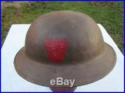 Casque Brodie Anglais 14/18 Original Ww1 Bataille De La Somme
