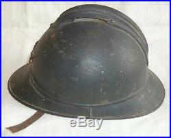 Casque CHASSEURS ALPINS/A PIED BCA BCP WWI Adrian 1915 ORIGINAL Helmet 1914/1918