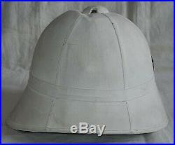 Casque Colonial mod. 1886 6° BCP Bataillon de Chasseurs à Pied ORIGINAL France