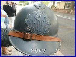 Casque Français Adrian M 15 Service de santé 1er type (Cie Coloniale) Helmet