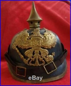 Casque à pointe 1895 Waterloo pickelhaube helm spiked helmet