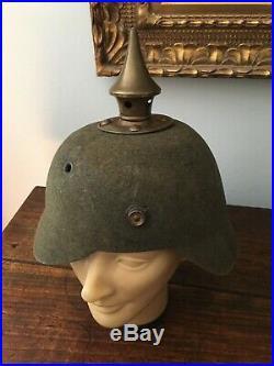 Casque a pointe 1914 Ersatz Feutre Garde marquages 5e Grenadiers reg