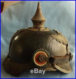 Casque à pointe BADOIS 1915 pickelhaube BADEN spiked helmet HELM