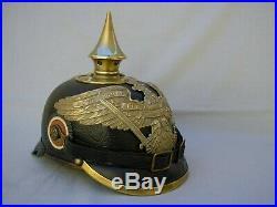 Casque à pointe Casque Prusse grenadier G R 8 Pickelhaube Spiked helmet