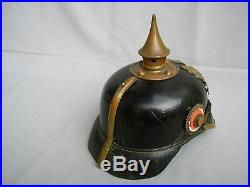 Casque à pointe Hambourg IR 76 Pickelhaube Spiked helmet