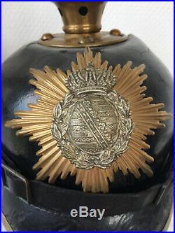 Casque à pointe SAXE en carton ersatz 104ème régiment