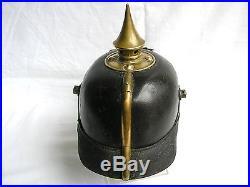 Casque a pointe Saxe 179 R Pickelhaube Spiked helmet