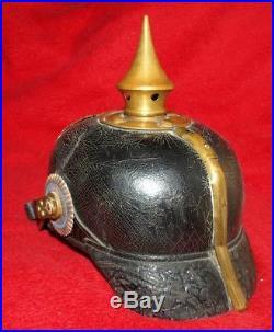 Casque à pointe bavarois bayern pickelhaube bavarian spiked helmet