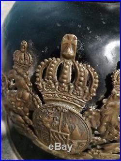 Casque à pointe en métal Bavarois ww1