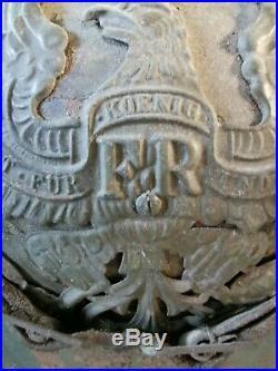 Casque à pointe ersatz tôle feldgrau 1915