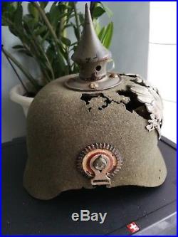 Casque à pointe feutre ersatz pickelhaube, spiked helmet ww1