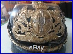 Casque à pointe officier de réserve BAVAROIS 1896