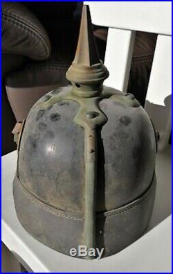 Casque à pointe, pickelhaube, spiked helmet Hessois LJR118