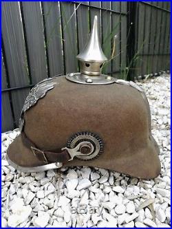 Casque à pointe, pickelhaube, spiked helmet Pionnier feutre 1915