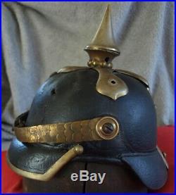 Casque à pointe pionnier 1860 helm pionier pickelhaube spiked helmet pioneer