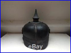 Casque à pointe, spike helmet, pickelhaube, Badois troupe mod 15, petit gris