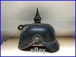 Casque à pointe, spiked helmet, pickelhaube, Prusse mod 15, petit gris