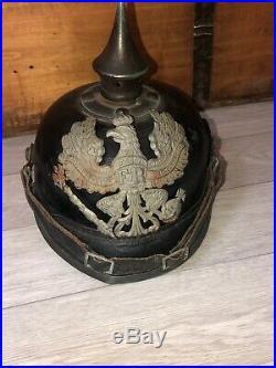 Casque à pointe spikehelmet Allemand WW1 1914/1918 German