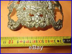 Casque à pointe, spikehelmet, pickelhaub Rarissime plaque du 119ème WURTEMBERG