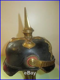 Casque à pointe, spilkelmet Beau casque Officier Bavarois, modèle 1895