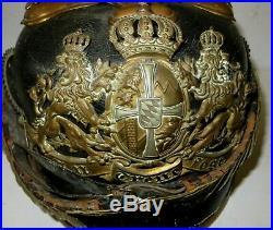 Casque à pointe, spilkelmet Casque d'Officier Réserviste des Chevaux-légers