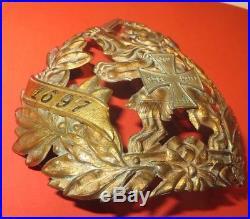 Casque à pointe, spilkelmet excepionnelle plaque Réserviste 117 ème Hessois 1895