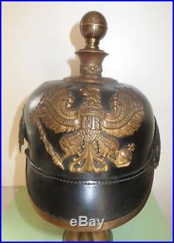 Casque à pointe, spilkelmet, pickelhaub Casque Officier Artillerie Prussien