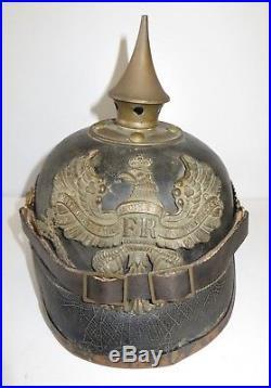 Casque à pointe, spilkelmetCasque modèle 1895 Troup 138 ème Régiment Infanterie