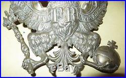 Casque à pointe, spilkelmetRarissime plaque de Shapska Prussienne modèle 1845
