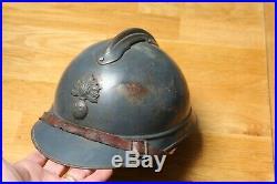 Casque adrian modéle 1915 bleu horizon WWI 14 18 no casque allemand