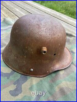Casque allemand M18. WW1 (coque Saine)