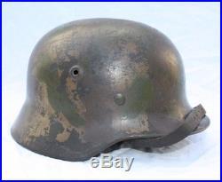 Casque allemand NS M40 camouflé trois tons