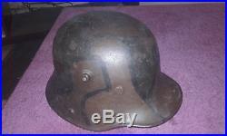 Casque allemand WW 1 1917 camouflé