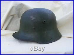 Casque allemand stalhelm 1916 parfait état landser 14/18 39/45 ww1 ww2