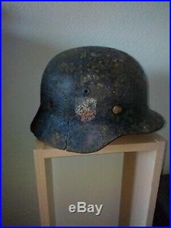 Casque allemand ww1 de fouille des Ardennes