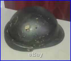 Casque militaire Adrian tankiste ou motocyclite 1939-1940 french army helmet
