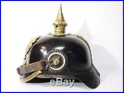 Casque à pointe Prussien BA IX FR 86 Allemand Empire Napoléon Verdun poilu 14-18