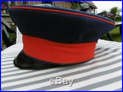 Casquette Kepi Allemand Casquette Schirmmutze Officier Infanterie Ww1
