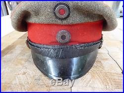 Casquette d'officier infanterie Feldgrau Guillaume II guerre 1914 1918