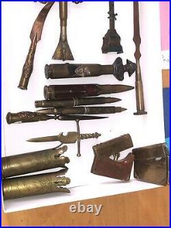Collection Militaria De Pieces D'objets De Tranchee 14/18