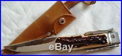 Couteau de Chasse A LA D'ESTAING ancien neuf de stock ORIGINAL BEGON INOX 1950