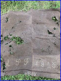 Couverture Datée 1913 Soldat Francais Bleu Horizon Piou Piou 1914 1918 Ww1
