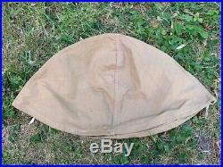 Couvre casque adrian français en toile beige WW1 poilu BH 1915 1916 1918