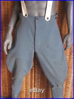 Culotte d'Artillerie bleu horizon, passepoil rouge, datée 1915, Poilu, WW1