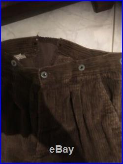Culotte pantalon modèle 1914 ersatz de fortune velours Poilu tranchée