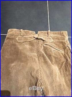 Culotte pantalon modèle 1914 ersatz de fortune velours daté 1915 Poilu tranchée