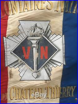 Drapeau Croix de Feu VN section de Chateau Thierry ligue politique