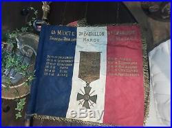 Drapeau poilu premiere guerre mondiale armee d afrique 14 18 casque