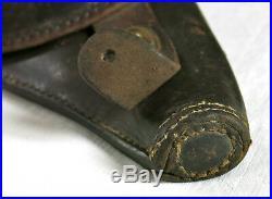 ETUI JAMBON, en cuir, tamponné, bel etui revolver 1892, etui jambon, PARIS, WW I